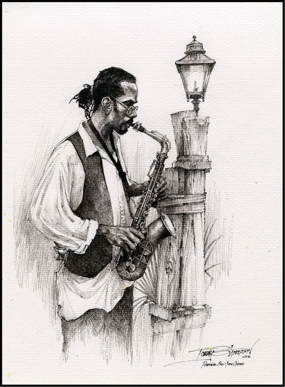 Riverside Sax Player
