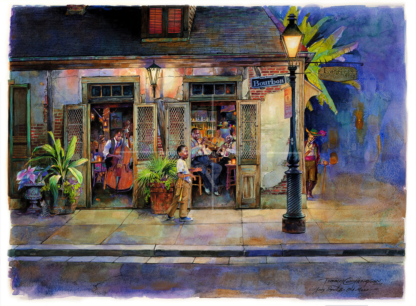 Young & Old at Lafitte's Bar ~ medium size