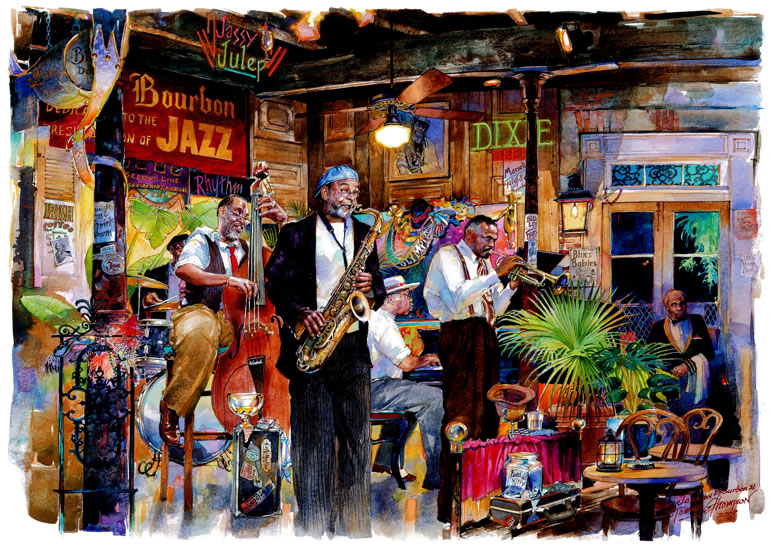 A Night on Bourbon ~ Large & Medium